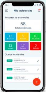 Imagen de la app accesibilidapp dentro de un movil