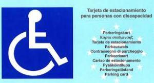 Imagen de tarjeta europea de aparcamiento
