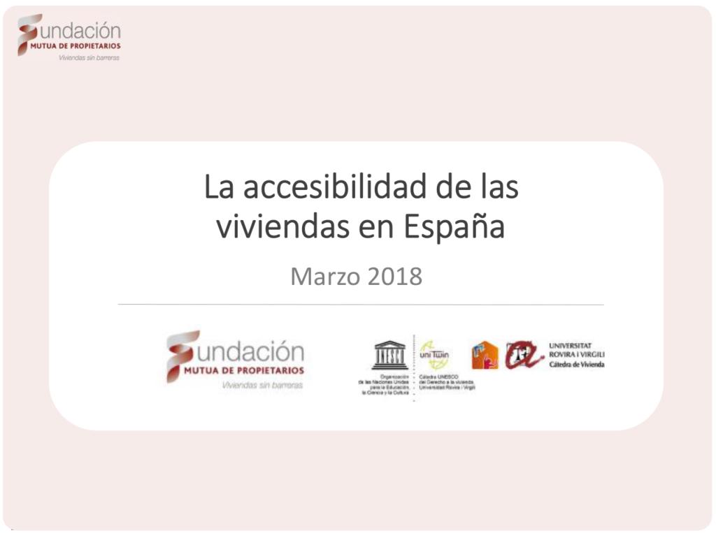 """Abre documento en PDF """"La accesibilidad de la vivienda en España"""""""