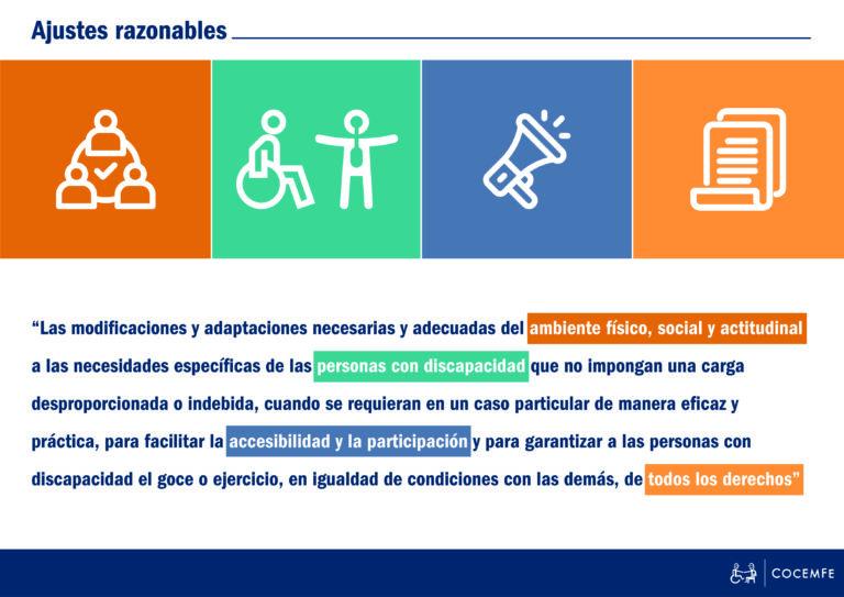 """Infografía sobre """"Ajustes Razonables"""""""