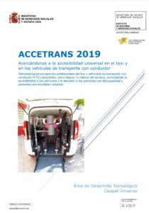 """Abre el PDF """"ACCETRANS 2020. Acercandonos a la accesibilidad universal en el taxi y los VTC"""""""
