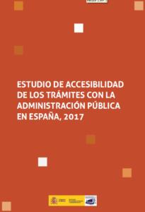 """Abre documento en PDF """"Estudio de accesibilidad de los trámites con la administración pública en España"""""""