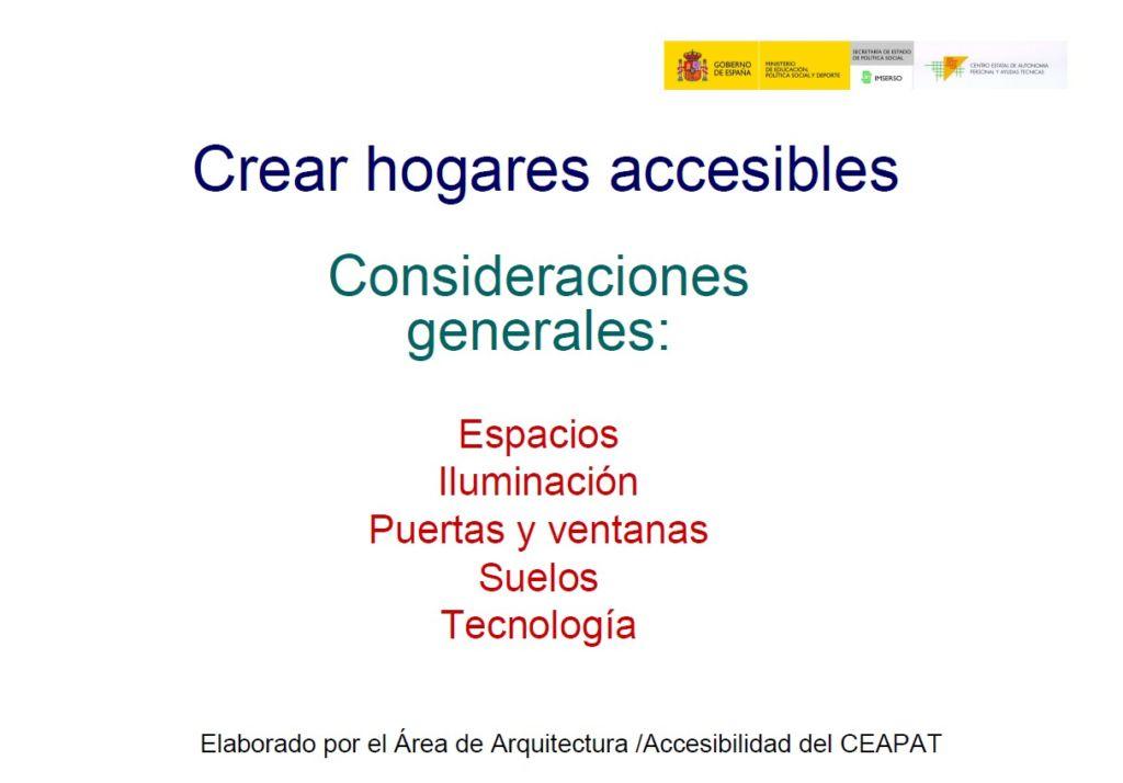 Crear hogares accesibles