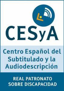 Logo de CESyA. Centro Español de Subtitulado y Audiodescripción