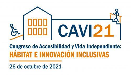 Logo del CAVI21. Dirige a la web Congreso de Accesibilidad y Vida Independiente
